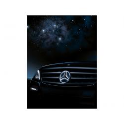 Etoile Mercedes éclairée,...